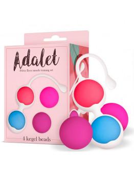 ADALET Komplekts ar 4 vaginālajām bumbiņām,silikona