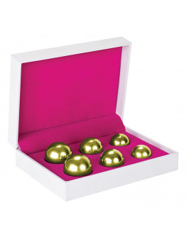 Ben-Wa vaginālo bumbiņu komplekts, zelta