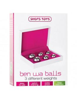 Ben-Wa vaginālo bumbiņu komplekts, sudraba