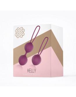 Kelly, silikona vaginālās bumbiņs, violetas