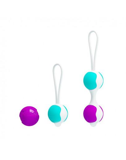 Orgasmic Balls, vaginālās bumbiņas, rozā un zila