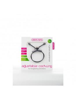 Regulējams erekcijas gredzens, melns