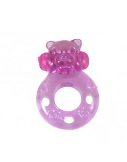 Bear, vibrējošs erekcijas gredzens, rozā