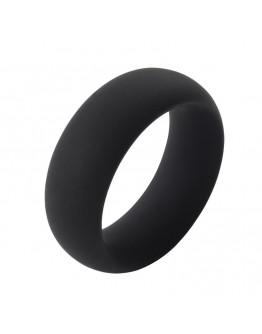 Infinity, melns silikona erekcijas gredzens, M izmērs