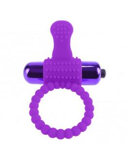Vibrējošs silikona erekcijas gredzens, violets