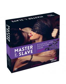 Master and Slave sasaišu spēle, violeta leoparda raksta
