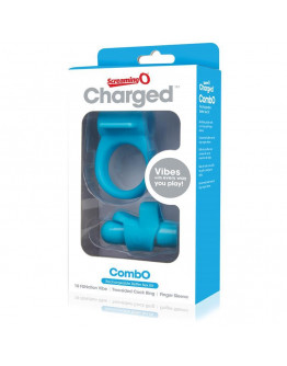 Charged Combo, komplekts ar vibrējošo lodi, zils