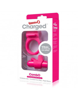 Charged Combo, komplekts ar vibrējošo lodi, rozā