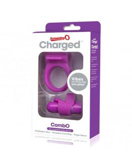 Charged Combo, komplekts ar vibrējošo lodi, violets