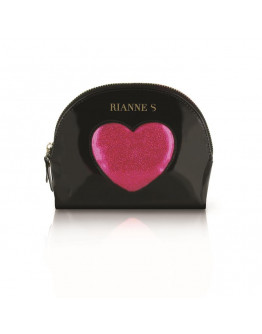 D Amour komplekts, melns ar rozā