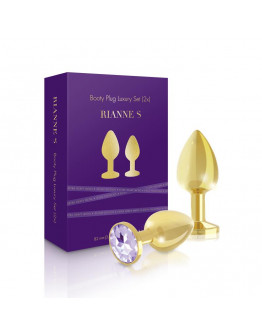 Komplekts ar 2 elegantiem zelta anālajiem stimulatoriem