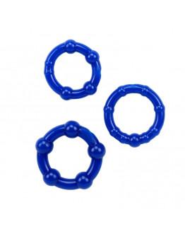 Punktēti erekcijas gredzeni, zili