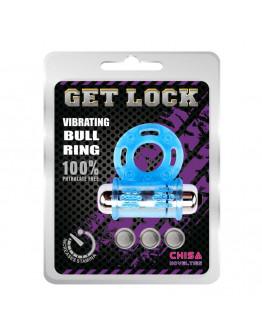 Vibrating Bull Ring, erekcijas gredzens, zils