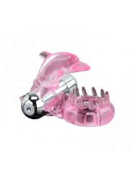 Love Dolphin, vibrējošs erekcijas gredzens, rozā