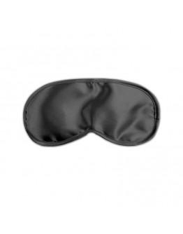 Satīna acu maska, melna