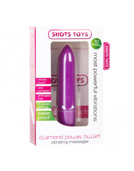 Diamond Power, vibrējošā lode, violeta