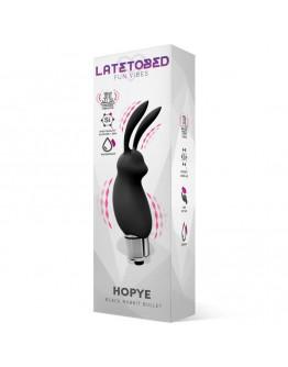 Hopye Rabbit silikona vibrators, melns