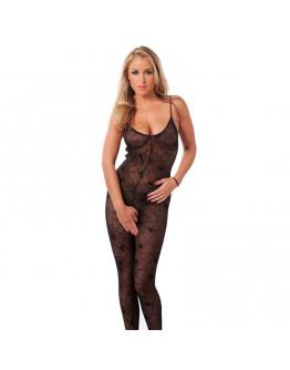 Melna kaķenes tērps ar zirnekļu rakstu, viens izmērs