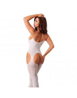 Balts kaķenes tērps ar atvērumiem, viens izmērs
