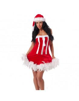 Ziemassvētku kostīms ar cepuri, viens izmērs