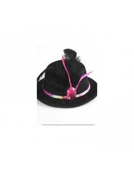 Spīdīga cepure, melna