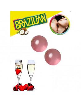 Brazilian Balls ar zemeņu un dzirkstošā vīna aromātu