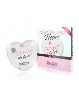 Hot Massage Heart, caurspīdīga