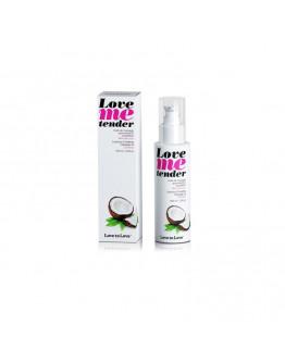 Love Me Tender, masāžas eļļa ar siltuma efektu un kokosriekstu aromātu, 100ml