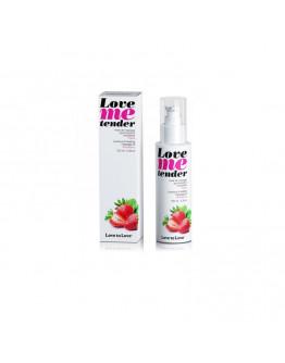 Love Me Tender, masāžas eļļa ar siltuma efektu un zemeņu aromātu, 100ml