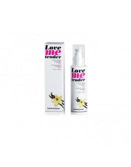 Love Me Tender, masāžas eļļa ar siltuma efektu un vaniļas aromātu, 100ml