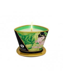 Masāžas svece ar zaļo eksotisko augļu aromātu, 170ml