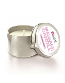 Masāžas svece ar rozā ziedu aromātu